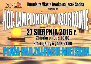 Plakat noc lampionów 27.08.2016